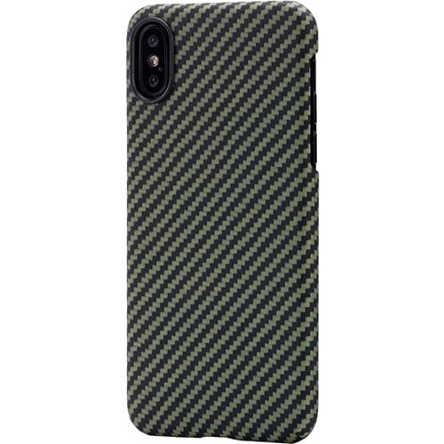 Чехол PITAKA MagCase для iPhone X зелёный карбонЧехлы для iPhone X<br>PITAKA MagCase для iPhone X - тонкий, элегантный прочный. В комплекте идет стекло на экран.<br><br>Цвет товара: Зелёный<br>Материал: Арамид<br>Модификация: iPhone 5.8