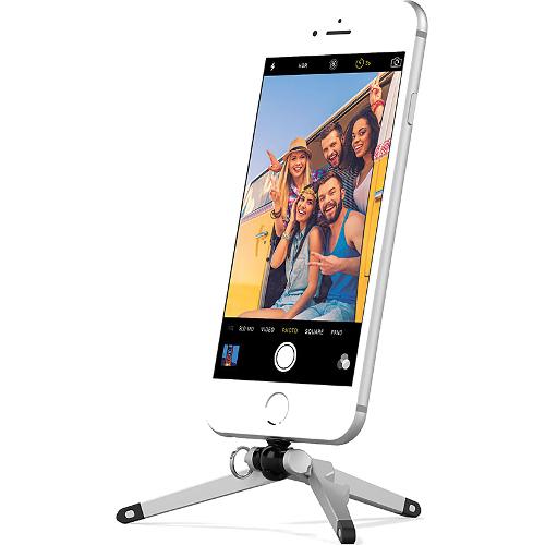 Подставка-штатив Kenu Stance Tripod для iPhone чёрный/серебристыйДокстанции/подставки<br>Штатив Kenu Stance Tripod для iPhone - серебристо/черный<br><br>Цвет товара: Чёрный<br>Материал: Металл, пластик