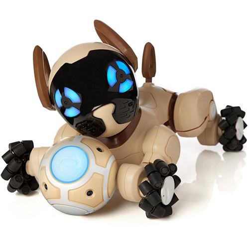 Робот-собака WowWee Chip шоколадныйРоботы<br>Разработчики наделили кибер-щенка всеми возможными датчиками, чтобы представить миру самую умную альтернативу настоящим собакам.<br><br>Цвет товара: Коричневый<br>Материал: Пластик