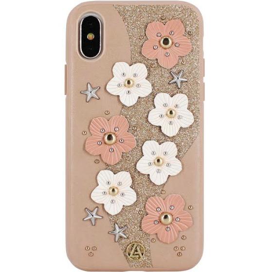 Чехол Luna Aristo Jasmine Series для iPhone X золотойЧехлы для iPhone X<br>Luna Aristo Jasmine Series — оригинальный чехол, который продемонстрирует окружающим ваш безупречный вкус!<br><br>Цвет: Золотой<br>Материал: Пластик, текстиль, металл