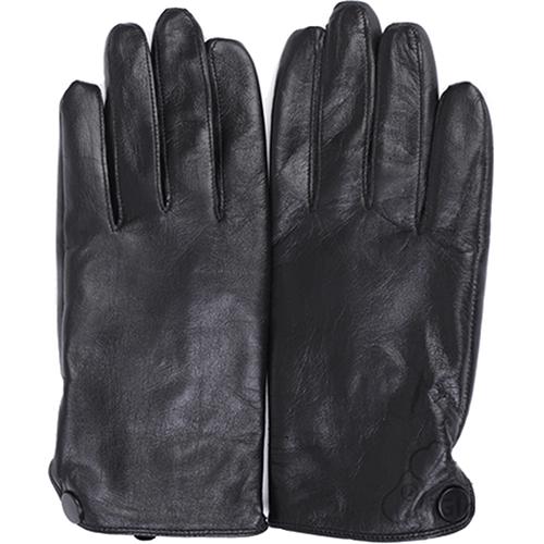 Кожаные перчатки iGloves (l13) для iPhone/iPod/iPad/etc чёрные с шерстью (Размер M) от iCases