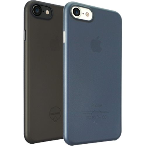 Набор чехлов Ozaki O!coat 0.3 Jelly 2 in 1 для iPhone 7 (Айфон 7) чёрный+тёмно-синий