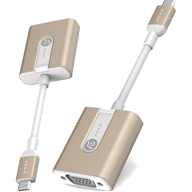 Переходник ADAM elements CASA V01 USB Type-C to VGA золотойКабели Type-C и другие<br>Для просмотра видео или показа презентаций на большом мониторе вам потребуется переходник ADAM elements CASA V01 USB Type-C to VGA.<br><br>Цвет: Золотой<br>Материал: Металл, пластик