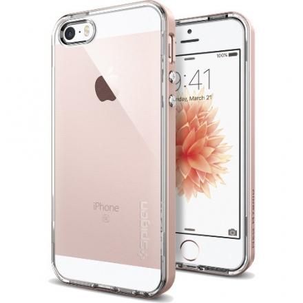 Чехол Spigen Neo Hybrid Crystal для iPhone SE (SGP-041CS20183)Чехлы для iPhone 5s/SE<br>Чехол Spigen Neo Hybrid Crystal для iPhone SE розовое золото (SGP-041CS20183)<br><br>Цвет товара: Розовое золото<br>Материал: Пластик, резина