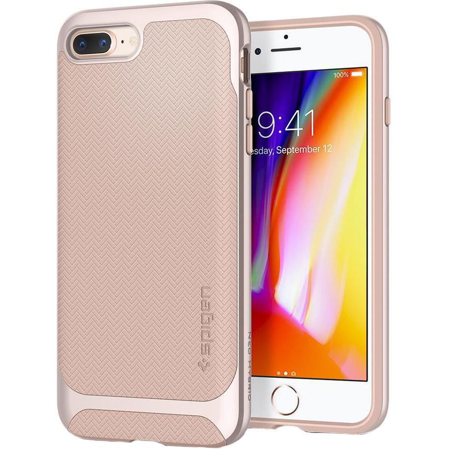 Чехол Spigen Neo Hybrid Herringbone для iPhone 8 Plus / 7 Plus бежевый (055CS22232)Чехлы для iPhone 7 Plus<br>Spigen Neo Hybrid Herringbone — стильный и прочный чехол для мощного смартфона Apple iPhone 8 Plus.<br><br>Материал: Поликарбонат, термопластичный полиуретан