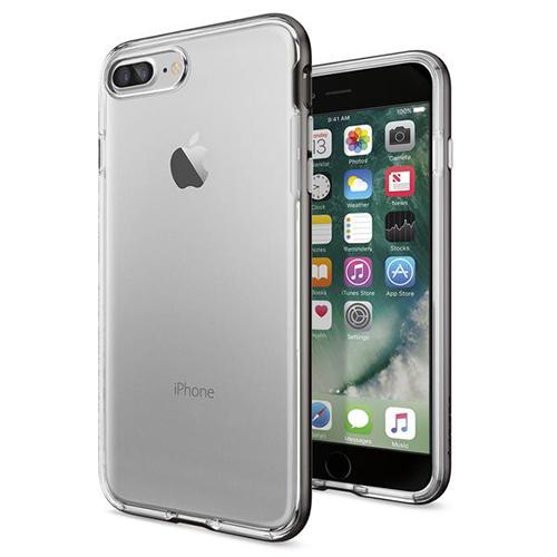 Чехол Spigen Neo Hybrid Crystal для iPhone 7 Plus (Айфон 7 Плюс) стальной (SGP-043CS20539)Чехлы для iPhone 7 Plus<br>Чехол Spigen для iPhone 7 Plus Neo Hybrid Crystal стальной (043CS20539)<br><br>Цвет товара: Серый<br>Материал: Поликарбонат, полиуретан