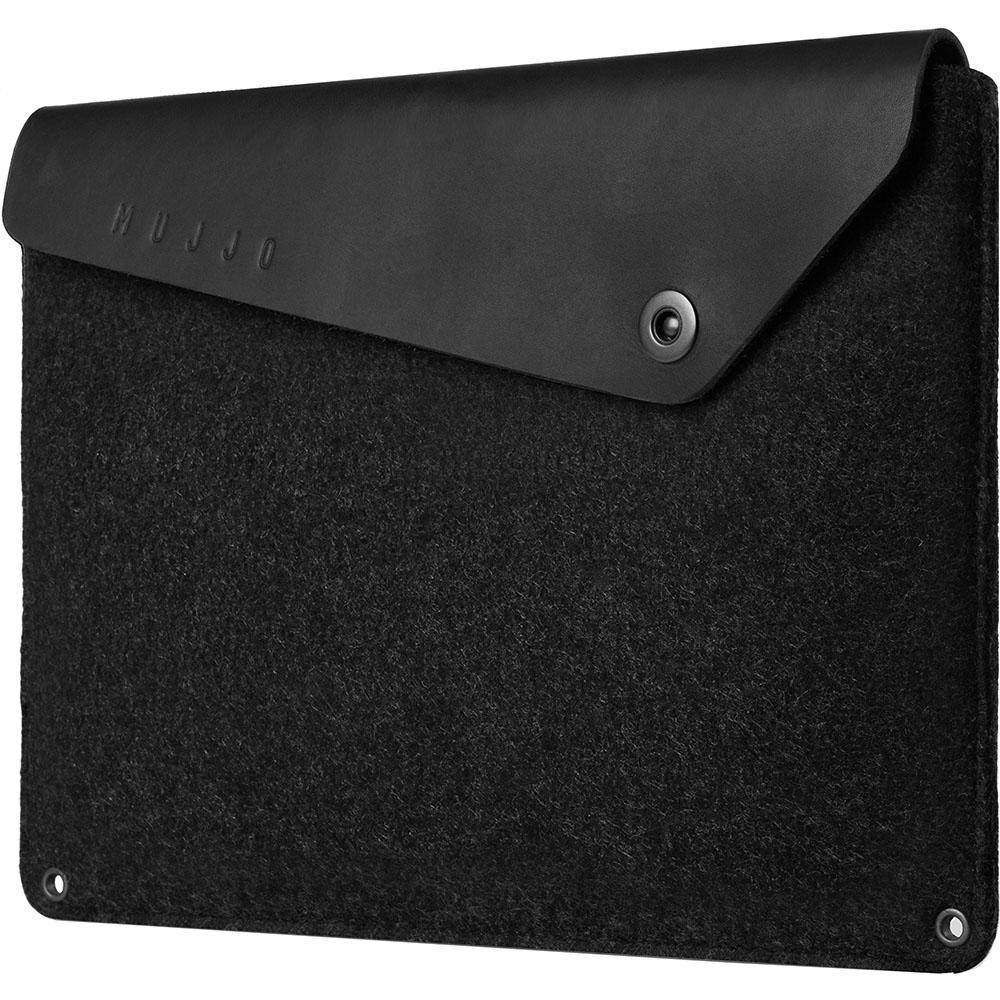 Чехол Mujjo Sleeve для MacBook 12 чёрныйMacBook 12<br>В Mujjo Sleeve был переработан каждый элемент и каждая деталь, чтобы он стал ещё лучше!<br><br>Цвет: Чёрный<br>Материал: Натуральная кожа, войлок