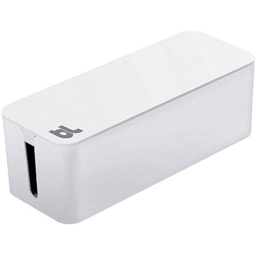 Бокс для проводов Bluelounge CableBox белыйОрганайзеры проводов и гаджетов<br><br><br>Цвет товара: Белый<br>Материал: Огнестойкий пластик, резина