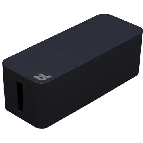 Бокс для проводов Bluelounge CableBox чёрныйОрганайзеры проводов и гаджетов<br><br><br>Цвет товара: Чёрный<br>Материал: Огнестойкий пластик, резина