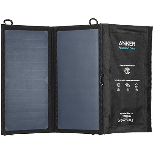 Солнечное зарядное устройство Anker PowerPort Solar Lite (A2422011) чёрноеВнешние аккумуляторы<br>Солнечное зарядное устройство Anker PowerPort Solar Lite<br><br>Цвет товара: Чёрный<br>Материал: Текстиль, пластик