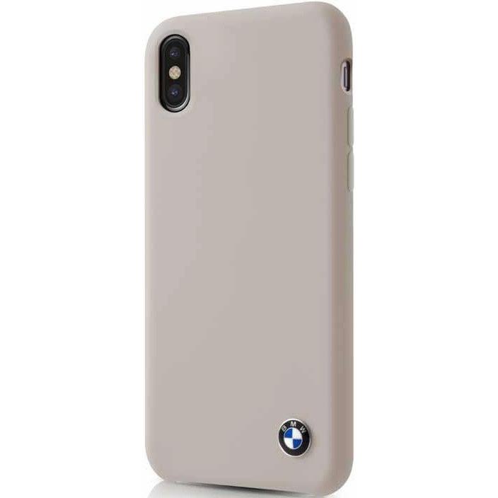 Чехол BMW Signature Liquid silicone Hard для iPhone X бежевый TaupeЧехлы для iPhone X<br>Скорость, адреналин, гонки и конечно роскошные и мощные автомобили от BMW — вот символы целой серии чехлов для защиты вашего iPhone.<br><br>Цвет: Бежевый<br>Материал: Силикон, микрофибра, поликарбонат
