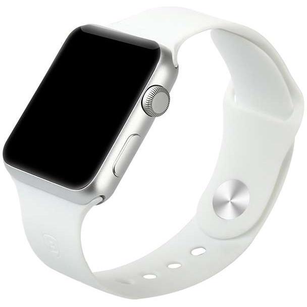 Спортивный ремешок Baseus Fresh Color для Apple Watch 38 мм белыйРемешки для Apple Watch<br>Для хорошего настроения и превосходных результатов!<br><br>Цвет товара: Белый<br>Материал: Термопластичный полиуретан
