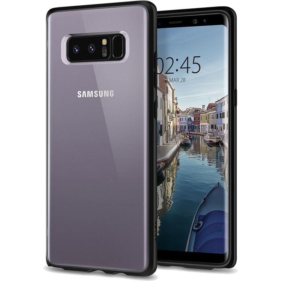 Чехол Spigen Case Ultra Hybrid для Samsung Galaxy Note 8 чёрный матовый (587CS22066)Чехлы для Samsung Galaxy Note<br>Гибридные технологии на страже от неприятностей для Samsung Galaxy Note 8.<br><br>Цвет товара: Чёрный<br>Материал: Поликарбонат, термопластичный полиуретан