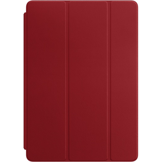 Кожаный чехол Apple Smart Cover для iPad Pro 10.5 красный (RED)Чехлы для iPad Pro 10.5<br>Элегантная обложка Smart Cover из высококачественной кожи защищает дисплей iPad Pro.<br><br>Цвет: Красный<br>Материал: Натуральная кожа