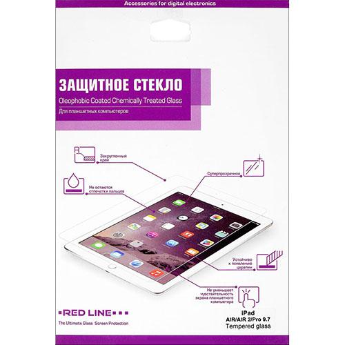 Защитное стекло Red Line для iPad Air/Air 2/Pro 9.7 глянцевоеСтекла/пленки на планшеты<br>Защитное стекло Red Line для iPad air / Air 2 / Pro 9.7<br><br>Цвет товара: Белый<br>Материал: Стелко