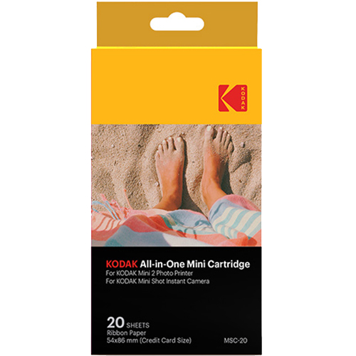 Фотобумага (картридж) Kodak All In One для Kodak Mini Shot / Mini 2 (20 листов)Портативные принтеры<br>Запечатлите все самые яркие моменты своей жизни вместе с Kodak!<br><br>Цвет: Белый<br>Материал: Бумага