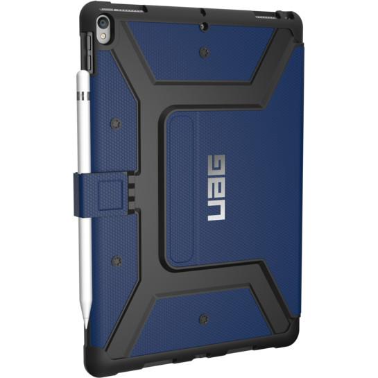Чехол UAG Metropolis Case для iPad Pro 10.5 синий CobaltЧехлы для iPad Pro 10.5<br>Прочная композитная конструкция, защита от загрязнений и влаги на 360°, комфортная подставка и держатель для стилуса — всё это чехол UAG Metropoli...<br><br>Цвет товара: Синий<br>Материал: Композитный пластик, термопластичный полиуретан
