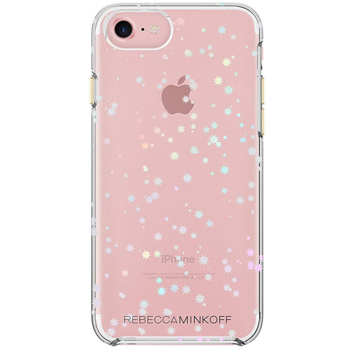 Чехол Rebecca Minkoff Double Up Protection Case для iPhone 7 Scattered Suns Clear/Holographic Foil