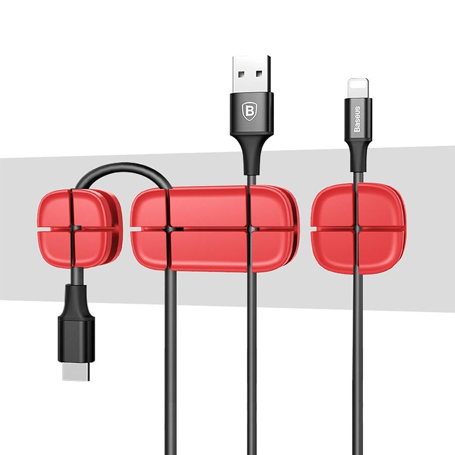 Организатор проводов Baseus Cross Peas Cable Clip красныйОрганайзеры проводов и гаджетов<br>Baseus Cross Peas Cable Clip - это компактный организатор проводов, который поможет Вам справиться с мотками кабелей на столе.<br><br>Цвет товара: Красный<br>Материал: Силикон