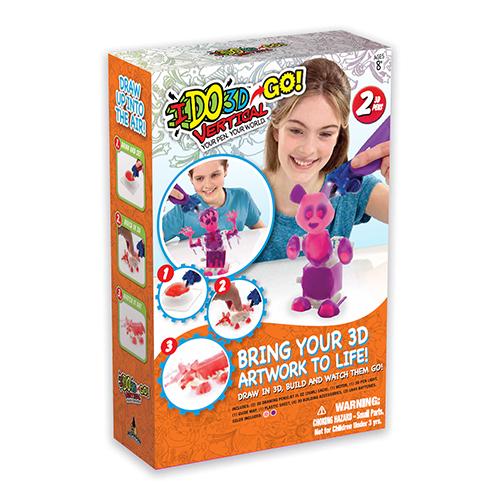 Набор 3D ручек IDO3D Vertical-GO Панда (166056) 2 ручки (розовая, сиреневая)3Д ручки для рисования<br>3D ручка IDO3D Vertical - настоящая волшебная палочка!<br><br>Цвет товара: Разноцветный<br>Материал: Пластик, металл