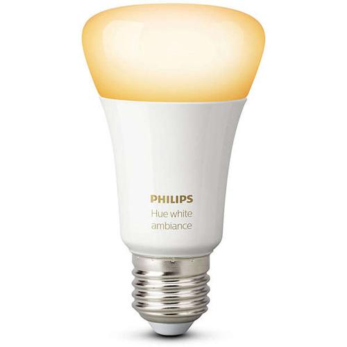 Умная лампа Philips Hue White Ambiance E27 (1 штука)Умные лампы<br>Светодиодная лампа Hue White Ambiance E14 от Philips для неповторимой атмосферы в вашем доме!<br><br>Цвет: Белый<br>Материал: Металл, керамика