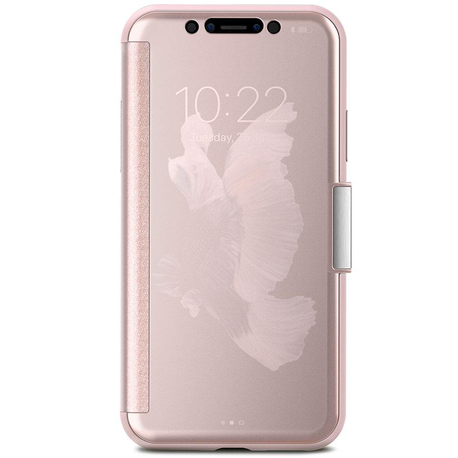 Чехол Moshi StealthCover для iPhone X розовыйЧехлы для iPhone X<br>Moshi StealthCover — идеальное сочетание защиты, функциональности и стиля!<br><br>Цвет товара: Розовый<br>Материал: Поликарбонат
