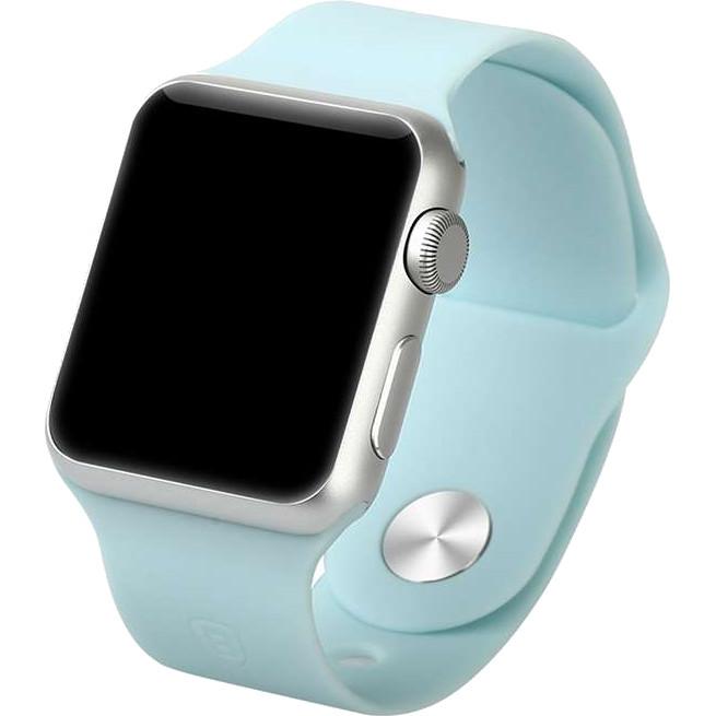 Спортивный ремешок Baseus Fresh Color для Apple Watch 38 мм голубойРемешки для Apple Watch<br>Для хорошего настроения и превосходных результатов!<br><br>Цвет: Голубой<br>Материал: Термопластичный полиуретан