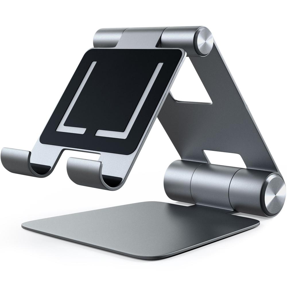 Подставка Satechi R1 Aluminum Hinge Holder Foldable Stand для iPad серый космос (ST-R1M)Докстанции/подставки<br>Универсальная и очень удобная подставка!<br><br>Цвет: Серый космос<br>Материал: Алюминий