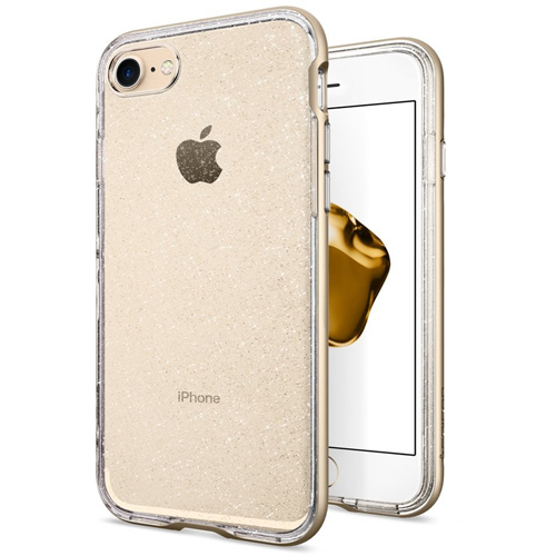 Чехол Spigen Neo Hybrid Crystal Glitter для iPhone 7 (Айфон 7) шампань (SGP-042CS21421)Чехлы для iPhone 7<br>Ультратонкий и ультралёгкий и кристально-прозрачный чехол Spigen Neo Hybrid Crystal Glitter создан специально для iPhone 7.<br><br>Цвет товара: Золотой<br>Материал: Термопластичный полиуретан, поликарбонат