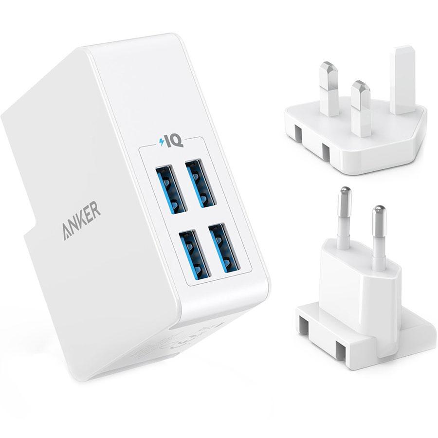 Сетевое зарядное устройство Anker PowerPort 4 Lite (A2042L21) белоеСетевые зарядки<br>Мощное, компактное и очень удобное зарядное устройство.<br><br>Цвет товара: Белый<br>Материал: Пластик