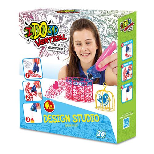 Набор 3D ручек IDO3D Vertical Дикие забавы (155237W) 4 ручки (оранжевая, зеленая, синяя, красная)3Д ручки для рисования<br>3D ручка IDO3D Vertical - настоящая волшебная палочка!<br><br>Цвет товара: Разноцветный<br>Материал: Пластик, металл