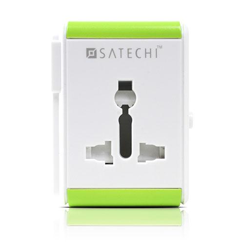 Адаптер Satechi Smart Travel Adapter with USB Port белыйСетевые зарядки<br>Satechi Smart Travel Adapter – это универсальный адаптер электропитания и зарядное устройство<br><br>Цвет товара: Белый<br>Материал: Пластик
