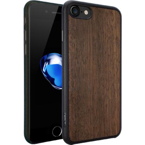 Чехол Ozaki O!coat 0.3+Wood для iPhone 7 (Айфон 7) тёмное деревоЧехлы для iPhone 7/7 Plus<br>Чехол Ozaki   Wood для iPhone 7 - темно-коричневый<br><br>Цвет товара: Коричневый<br>Материал: Поликарбонат, полиуретан