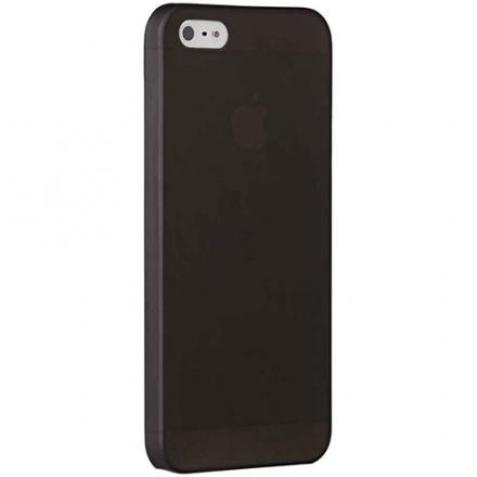 Чехол Ozaki О!Coat 0.3 Jelly для iPhone 5/5S/SE чёрныйЧехлы для iPhone 5s/SE<br>Тончайшая, почти невидимая защита<br><br>Цвет товара: Чёрный<br>Материал: Поликарбонат