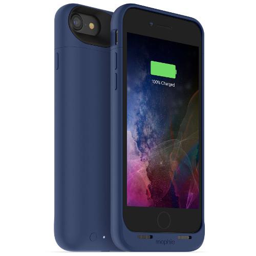 Чехол-аккумулятор Mophie Juice Pack Air на 2525 мАч для iPhone 7 синийЧехлы для iPhone 7/7 Plus<br>Mophie Juice Pack Air — это идеальный чехол - тонкий и легкий, он обеспечит ваш новенький iPhone 7 100% защитой и энергией.<br><br>Цвет товара: Синий<br>Материал: Поликарбонат, резина