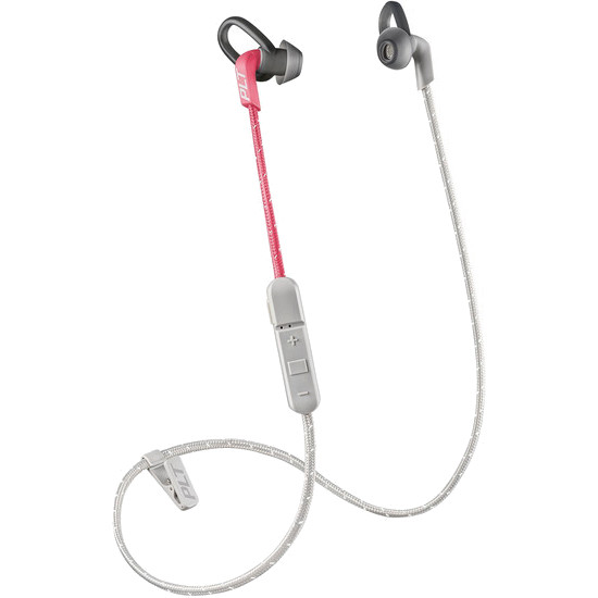 Наушники Plantronics BackBeat Fit 305 Sport розовыеВнутриканальные наушники<br>Наушники Plantronics BackBeat Fit 305 не боятся пота и влаги, а значит вы сможете слушать вдохновляющие треки даже во время усиленных тренировок.<br><br>Цвет товара: Розовый<br>Материал: Пластик, нанопокрытие P2i, текстиль