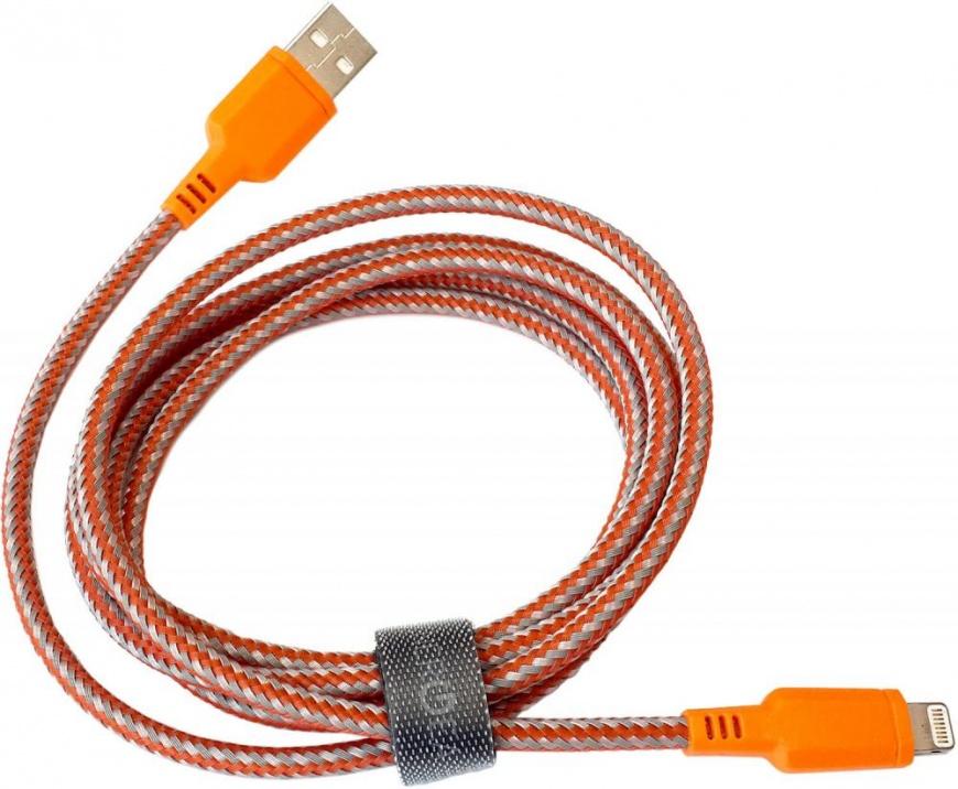 Кабель EnergEA Nylotough Lightning MFI (1.5 метра) оранжевыйКабели Lightning<br>Возможно, кабель EnergEA Nylotough будет последним кабелем, который вы купите.<br><br>Цвет товара: Оранжевый<br>Материал: Пластик, нейлон