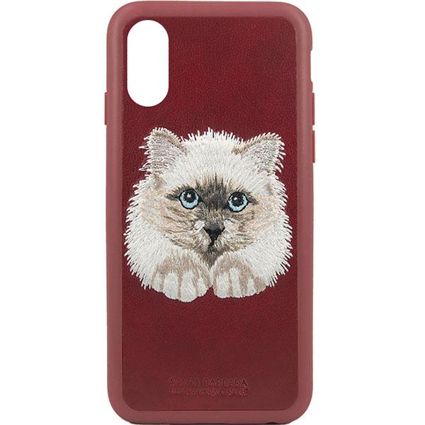 Чехол Santa Barbara Animals Series для iPhone X красныйЧехлы для iPhone X<br>Santa Barbara Animals Series — восхитительный чехол премиум-класса.<br><br>Цвет: Красный<br>Материал: Пластик, эко-кожа, текстиль