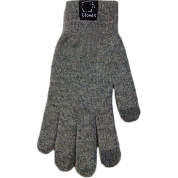 Перчатки iGloves для iPhone/iPod/iPad/etc серые (Размер M)Перчатки для экрана<br>Перчатки iGloves  — отличный подарок на Новый Год!<br><br>Цвет товара: Серый<br>Материал: 50% - шерсть, 50% - акрил<br>Модификация: M