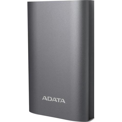 Внешний аккумулятор ADATA A10050QC PowerBank Quick Charge 3.0 10050 mAh серыйДополнительные и внешние аккумуляторы<br>ADATA A10050QC — это мощный портативный аккумулятор объёмом 10050 мАч для безопасной и быстрой подзарядки ваших гаджетов!<br><br>Цвет товара: Серый<br>Материал: Алюминий