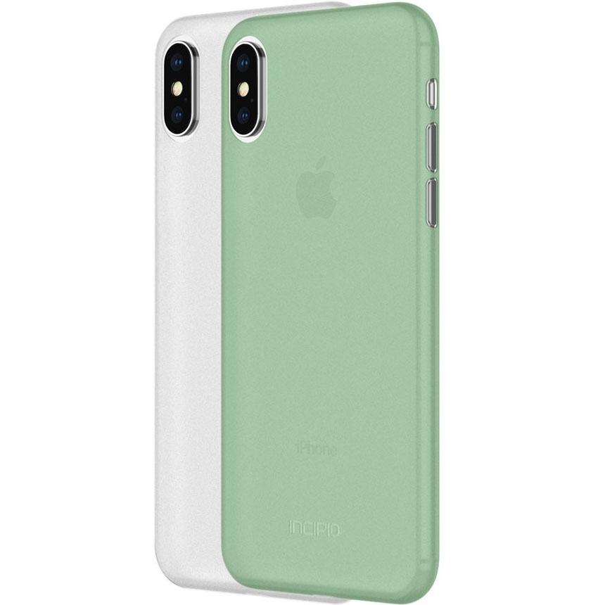 Набор чехлов Incipio Feather Light (2 Pack) для iPhone X зелёный (Mint) + белый (Frost)Чехлы для iPhone X<br>Incipio Feather Light обеспечат смартфону непревзойдённую степень защиты и  стильный внешний вид.<br><br>Цвет: Разноцветный<br>Материал: Поликарбонат