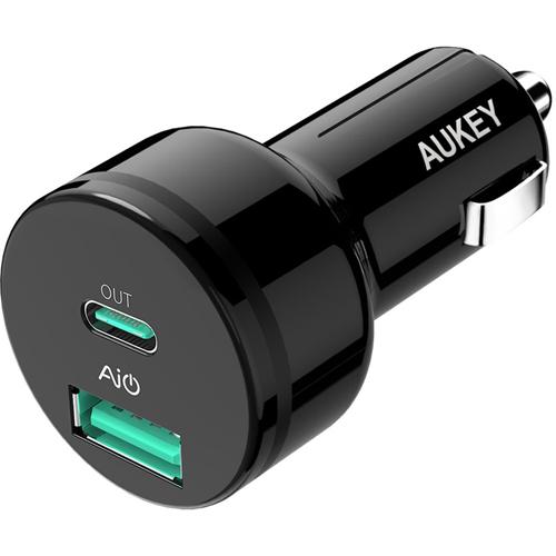 Автомобильное зарядное устройство Aukey USB-C Power Delivery 2.0 (CC-Y7)Автозарядки<br>Автозарядка Aukey CC-Y7 USB-C Power Delivery 2.0  - это высококачественное автомобильное зарядное устройство, подходящее для большинства современных гадж...<br><br>Цвет товара: Чёрный<br>Материал: Пластик