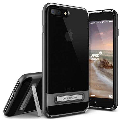 Чехол Verus Crystal Bumper для iPhone 7 Plus (Айфон 7 Плюс) стальной (VRIP7P-CRBDS)Чехлы для iPhone 7 Plus<br>Чехол Verus для iPhone 7 Plus Crystal Bumper, стальной (904633)<br><br>Цвет товара: Серый космос<br>Материал: Поликарбонат, полиуретан