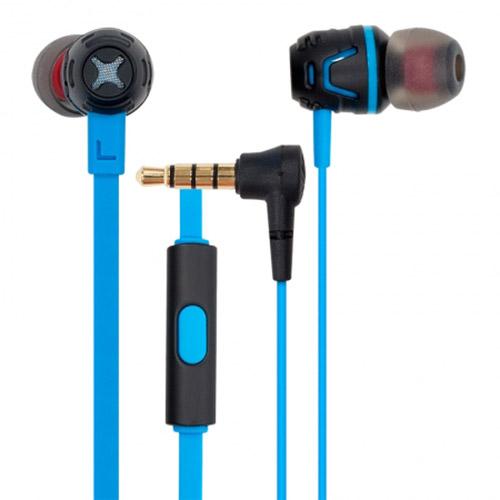 Наушники с микрофоном Cresyn C450S неоновыеВнутриканальные наушники<br>Cresyn C450S идеальны в собственном исполнении.<br><br>Цвет товара: Синий<br>Материал: Пластик, силикон