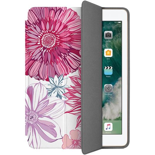 Чехол Muse Smart Case для iPad 9.7 (2017/2018) ЦветыЧехлы для iPad 9.7<br>Чехлы Muse — это индивидуальность, насыщенность красок, ультрасовременные принты и надёжность.<br><br>Цвет: Розовый<br>Материал: Поликарбонат, полиуретановая кожа