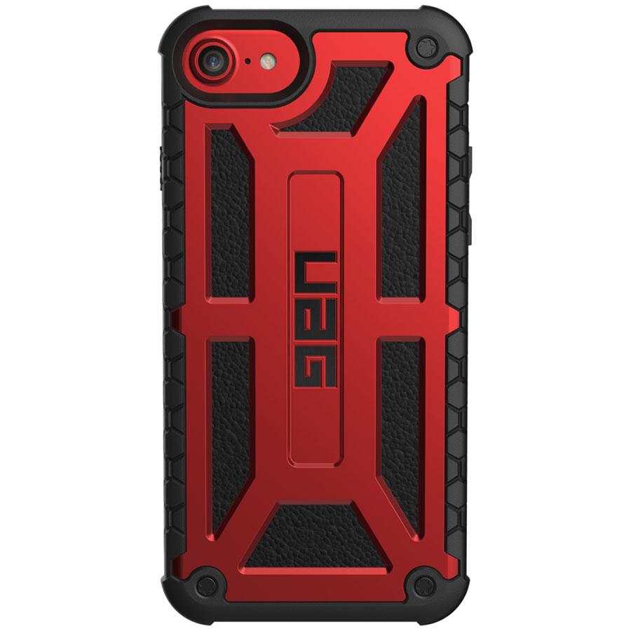 Чехол UAG Monarch Series Case для iPhone 6/6s/7/8 красныйЧехлы для iPhone 6/6s<br>Ударопрочный чехол UAG Monarch — надёжная защита для вашего гаджета!<br><br>Цвет товара: Красный<br>Материал: Поликарбонат, полиуретан