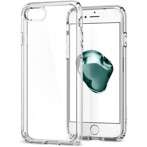 Чехол Spigen Ultra Hybrid 2 для iPhone 7 (Айфон 7) кристально-прозрачный (SGP-042CS20927)Чехлы для iPhone 7<br>Чехол Spigen Ultra Hybrid 2 — это идеальный чехол для тех, кто ценит лаконичный дизайн и максимальную защиту смартфона.<br><br>Цвет товара: Прозрачный<br>Материал: Термопластичный полиуретан, поликарбонат