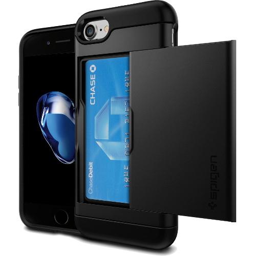 Чехол Spigen Slim Armor CS для iPhone 7/ iPhone 8 чёрный (SGP-042CS20455)Чехлы для iPhone 7<br><br><br>Цвет товара: Чёрный<br>Материал: Поликарбонат, полиуретан