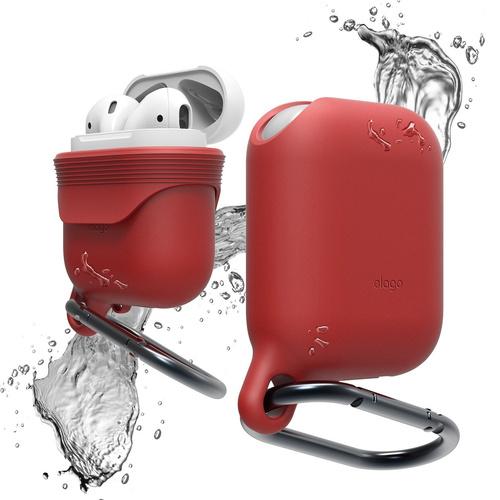Чехол Elago Waterproof Hang Case для AirPods красныйКабели и аксессуары для наушников<br>Благодаря чехлу Elago Waterproof Hang Case вы сможете брать AirPods с собой всегда и везде, и не беспокоиться о их сохранности.<br><br>Цвет: Красный<br>Материал: Силикон; карабин: металл