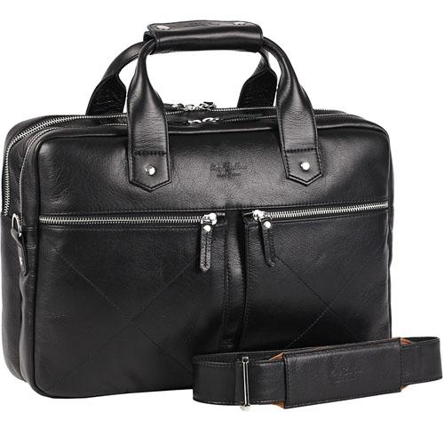 Сумка Ray Button Hannover для MacBook 15 чёрнаяСумки для ноутбуков<br>Сумка Hannover станет незаменимой для современного делового мужчины.<br><br>Цвет товара: Чёрный<br>Материал: Натуральная кожа